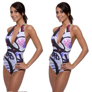 Graffinis Halter one piece size XS retail $180